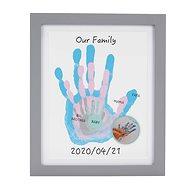 Pearhead Frame for Handprinting of Family frame, White - Photo Frame