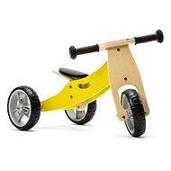 Nicko - Dřevěné odrážedlo 2v1 mini žluté - Odrážedlo