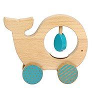 Petitcollage velryba na kolečkách - Dřevěná hračka