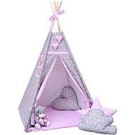 BabyTýpka teepee Double stars pink - Dětský stan