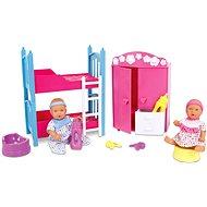 Born Baby Dětský pokoj + 2 panenky (pije + čůrá) - Sada panenek