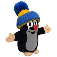 Mole talking with blue ski cap - Hand Puppet