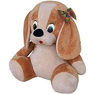 Pes s mašlí béžový 70cm - Plyšák