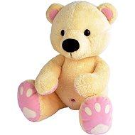 Medvěd Pupík béžovo–růž. 60cm - Plyšová hračka
