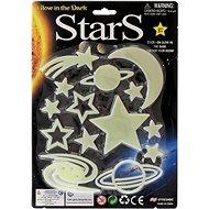 Hvězdy svítící ve tmě 3druhy na kartě - Nálepka