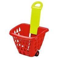 Ecoiffier Nákupní košík na kolečkách skládací - Nákupní košík