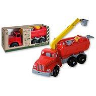 Androni Giant Trucks hasičký vůz s plošinou a funkční stříkačkou - délka 74 cm