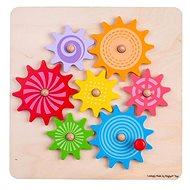 Bigjigs Toys Ozubená kolečka - Dřevěná hračka