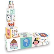 Vilac Skládací věž z kostek Suzy Ultman - Dřevěná hračka