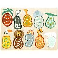 Small Foot Vkládací puzzle čísla Safari - Vkládačka