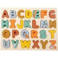 Small Foot Vkládací puzzle Safari abeceda - Vkládačka