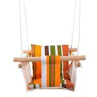 Dvěděti Dětská textilní houpačka 100% bavlna pruhovaná