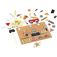 Bigjigs Toys Kreativní zatloukací hra doprava - Motorická hračka