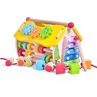 Dřevěný edukační domeček - hodiny - Dřevěná hračka