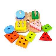 Dřevěná vkládačka - 12 kostek - Dřevěná hračka