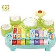 Hudební hračka Elektronický xylofon s herním bubnem