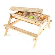 PLUM Dřevěný piknikový stůl 2v1 - Pískoviště