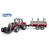 Bruder Farmer - Massey Ferguson traktor s vlekem