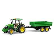 Bruder Farmer - Traktor John Deere se sklápěcím přívěsem