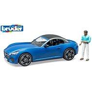 Bruder Volný čas - kabriolet modrý s řidičem