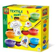 SES Barvy na textil, 6 barev - Kreativní sada