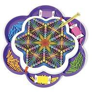 Vyrábění pro děti Quercetti Play Art Mandala – kreslení pomocí nití a kolíčků
