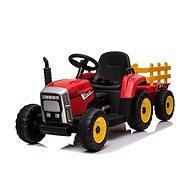 Traktor Workers s vlečkou, červený - Dětské elektrické auto