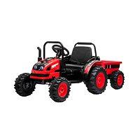 Traktor POWER s vlečkou, červený