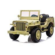 USA ARMY 4X4, 3 místné, béžové - Dětské elektrické auto