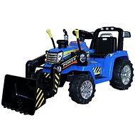 Traktor MASTER s naběračkou, modrý, pohon zadních kol