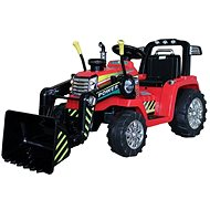 Traktor MASTER s naběračkou, červený, pohon zadních kol