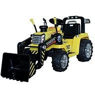 Traktor MASTER s naběračkou, žlutý, pohon zadních kol