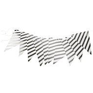 Girlanda narozeniny - vlajky - stříbrná - 500 cm - Party doplňky