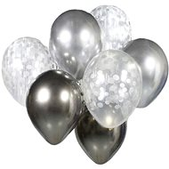 Set of Latex Balloons - Chrome-plated Silver 7 pcs, 30cm