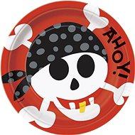 Talíře - pirát - pirate fun - 22,5 cm - 8 ks - Jednorázové nádobí
