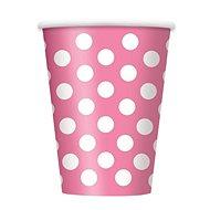 Kelímky růžové puntík - 355 ml - 6 ks - Kelímek