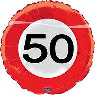 Balloon Foil Traffic Sign 50, 43cm