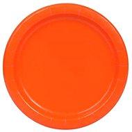Talíře oranžové 22 cm - 8 ks - Jednorázové nádobí