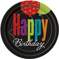 Talíře - happy birthday - narozeniny - 8 ks / 17,5cm - Jednorázové nádobí