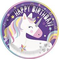 Talíře jednorožec - unicorn - narozeniny - 8 ks, 22 cm - Jednorázové nádobí