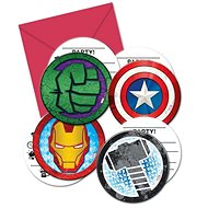 Pozvánky s obálkami avengers, 6 ks - Party doplňky