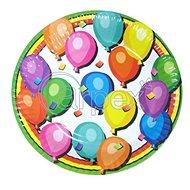Papírový talíř střední narozeniny - balonky - 8ks - 18cm - Talíř