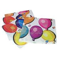 Ubrousky narozeniny - balonky - 33x33cm - 20ks - Papírové ubrousky
