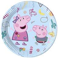 """Papírové talíře prasátko peppa """"peppa pig"""", 23 cm, 8 ks - Talíř"""