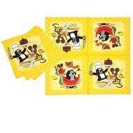 Párty ubrousky krteček - krtek a kamarádi 12 ks, 33 cm - Papírové ubrousky