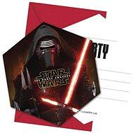 Pozvánky star wars - hvězdné války - the force awaknes - 6 ks - Party doplňky