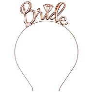 Párty kovová čelenka Bride, zlato-růžová