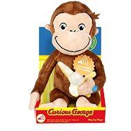 Curious George s banánem a zvukem