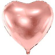 Balón foliový 45 cm  srdce růžovo zlaté - rose gold - valentýn / svatba - Balonky