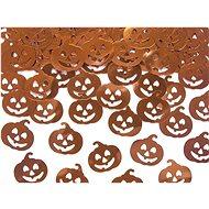 Dýně - metalické konfety na stůl 2 x 2cm balení 15 g - halloween
